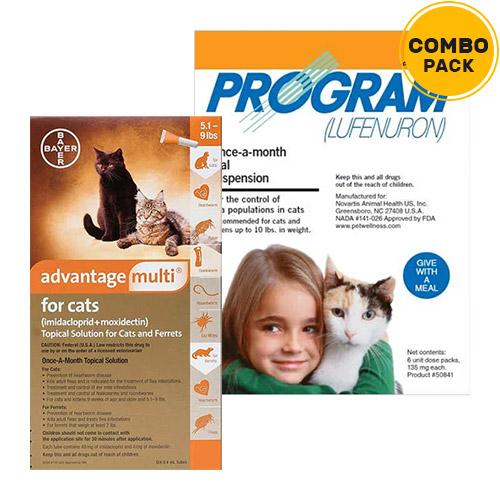 Advantage Multi & Program Oral Suspension Combo Pack for Cats