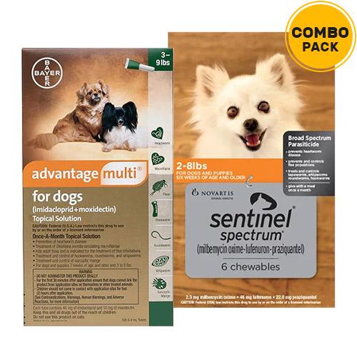 Advantage Multi & Sentinel Spectrum Combo Pack for Dogs