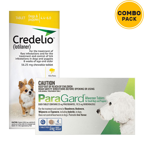 Credelio + Paragard Allwormer Combo Pack for Dogs