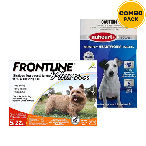 Frontline Plus & Generic Nuheart Combo Pack for Dogs