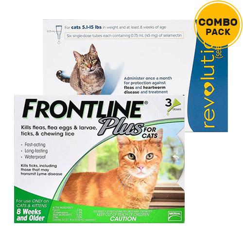 Frontline Plus & Revolution Combo Pack for Cats