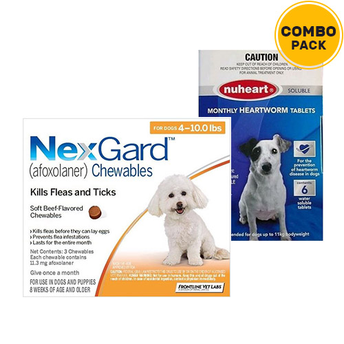 Nexgard + Nuheart Combo Pack for Dogs