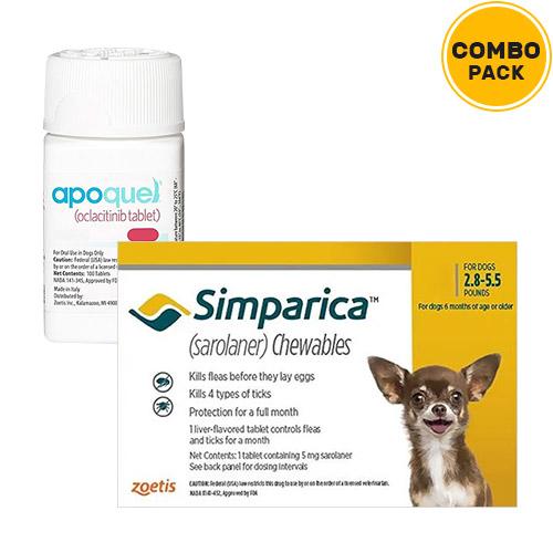 Simparica + Apoquel  Combo Pack for Dogs