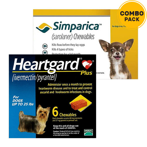 Simparica + Heartgard Plus Combo Pack for Dogs