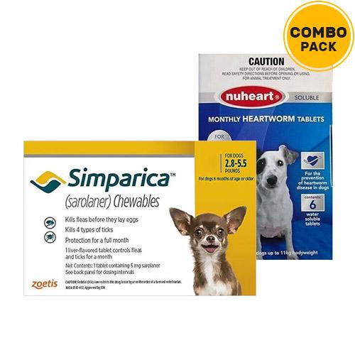 Simparica + Nuheart (Generic Heartgard)  for Dogs